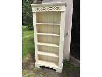 Solid Pine Shabby Chic Ornate Bookcase Bargain Quick Sale