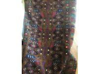 Aztec patterned rug