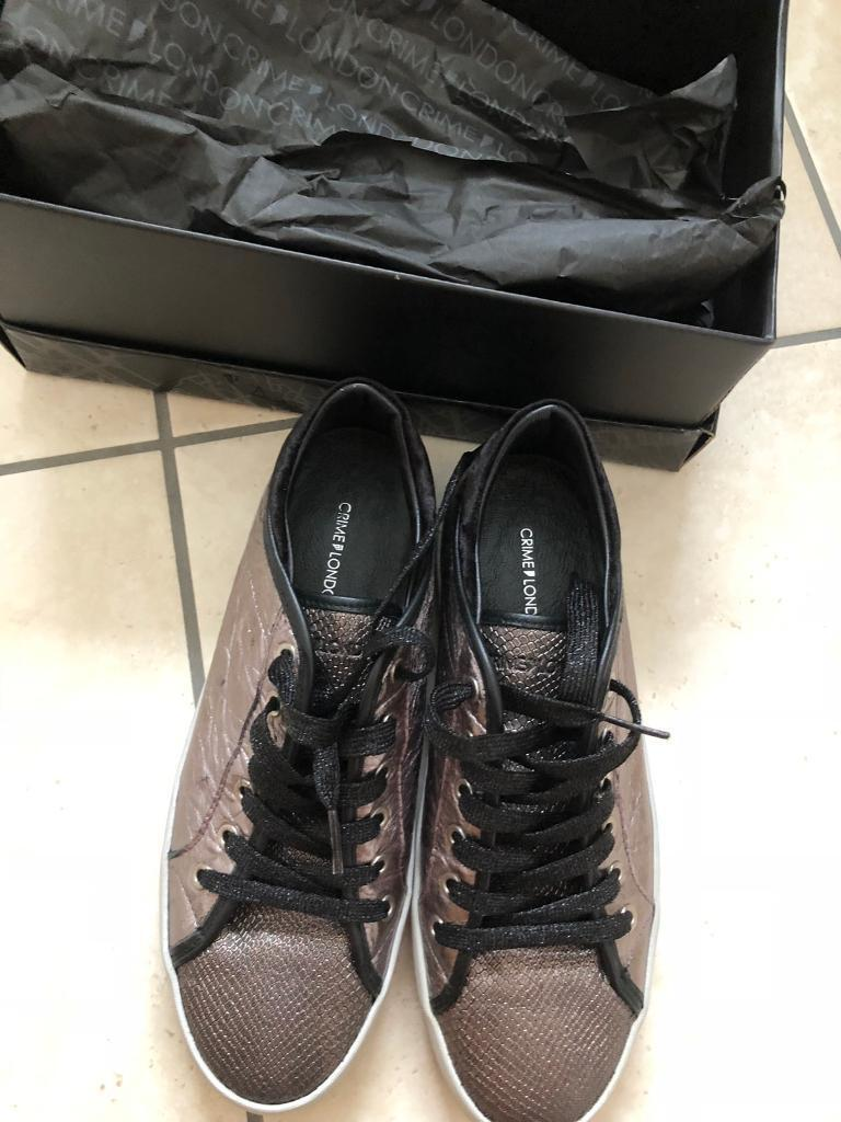 Crime London trainers size 4 37  cb7ebeca358