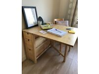 IKEA dining table incl. drawers - NORDEN gateleg table