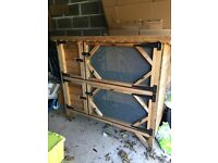 Used Double Rabbit Hutch. very well made