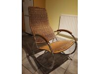 Beautiful and modern rattan rocking chair