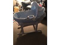 Brand new kinder valley Moses basket and stand