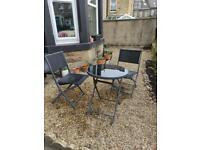Garden furniture table chairs bistro set. Read description