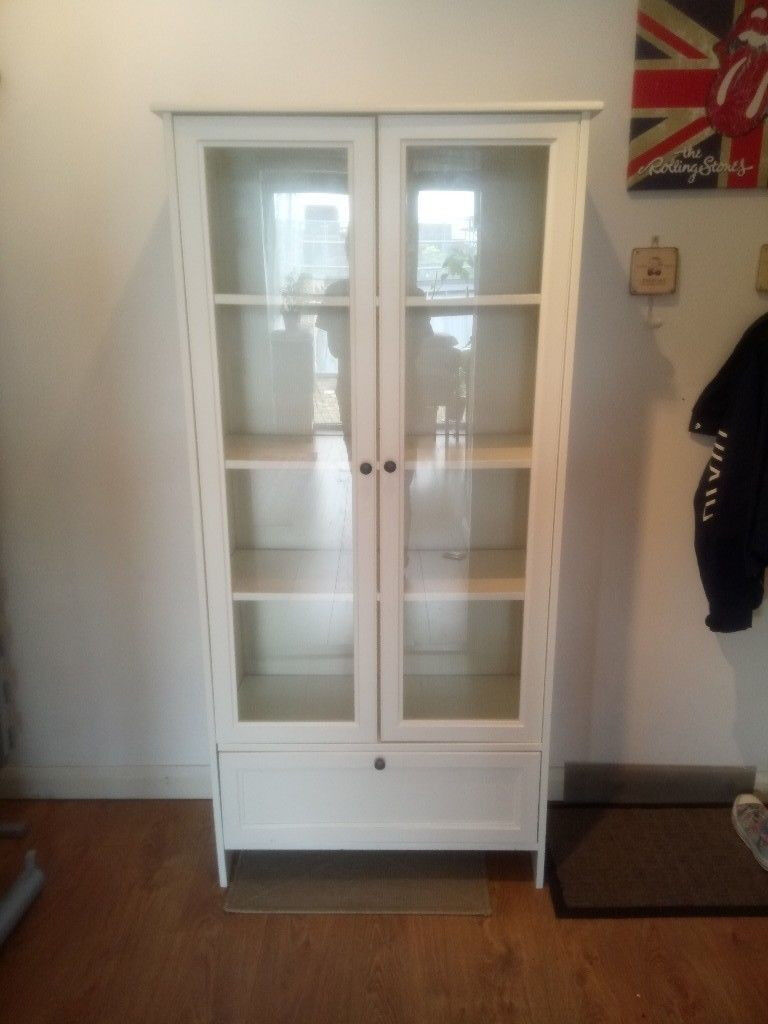 hot sale online 5d7c8 34842 IKEA WHITE SMADAL DISPLAY CABINET BOOKCASE GLASS DOORS DRAWER - Bethnal  Green E2 | in Bethnal Green, London | Gumtree