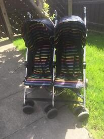 Mothercare double buggy, stroller.
