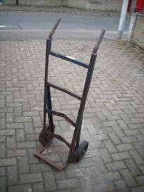 Vintage Metal Drum Sack Trolley