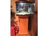 64l aquarium fish tank and cabinet