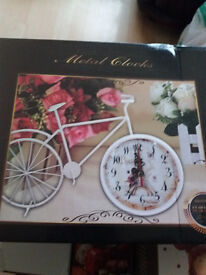 bicycle clock ornament new in box