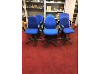 Blue armchair office chairs