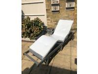 White sun lounger cushion brand new unopened.