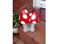 new stone mushrooms approx 1 foot tall