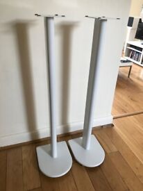 White speaker stands 1m tall