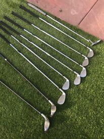 Full Nike Golf club set with nike carry bag.