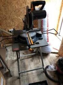 Sliding bevel mitre chop saw