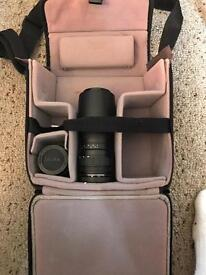Canon Camera Lens and Bag