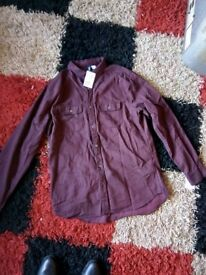 Brand new with tags men's large shirt by H&M RRP 1499 burgundy / dark purple