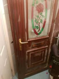 chestnut PVC door