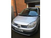 Renault Megane Scenice for sale 76,500 miles.