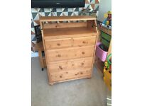Ikea wood drawers and changing table