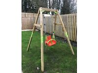 Outdoor 6ft wooden swing