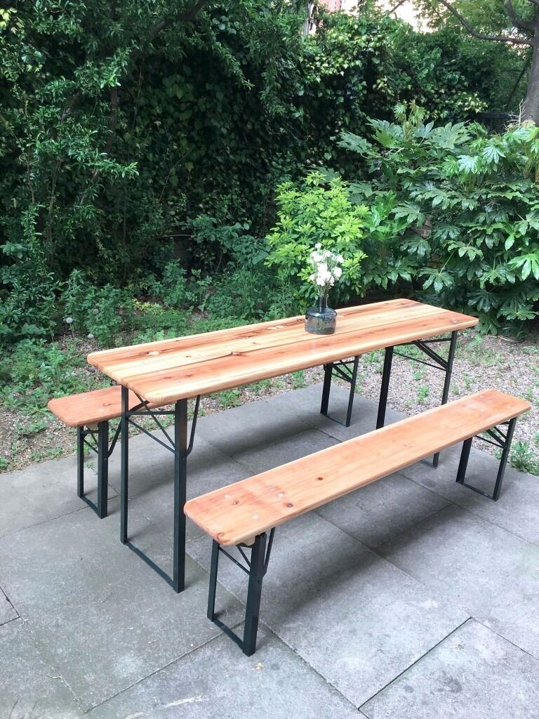 Table benches brand new berlin style indoor outdoor camden