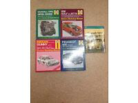 Haynes car manuals.