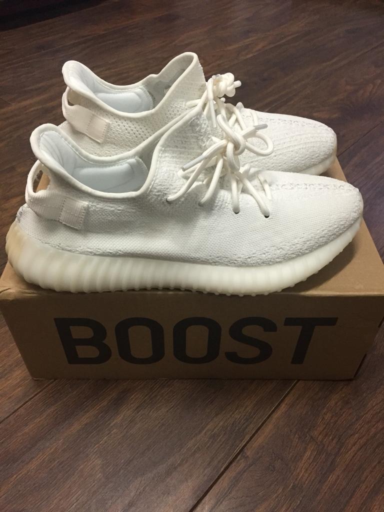 87bf3cbff334c Adidas Yeezy 350 v2 Boost white cream size 10