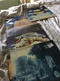 Moody blues albums x5 vinyl