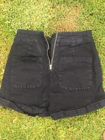 URBAN tiny black high waisted hot pants