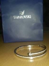 New silver Swarovski bracelet with box and bag