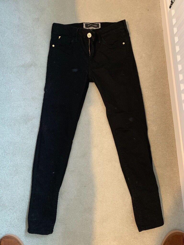 6c5d5fedf River island black jeans size 10