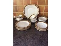 Aynsley China Greek Key Design Tea Set