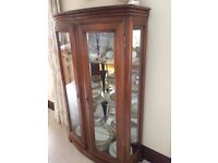 Wesley Barrel Display Cabinet - IMMACULATE CONDITION