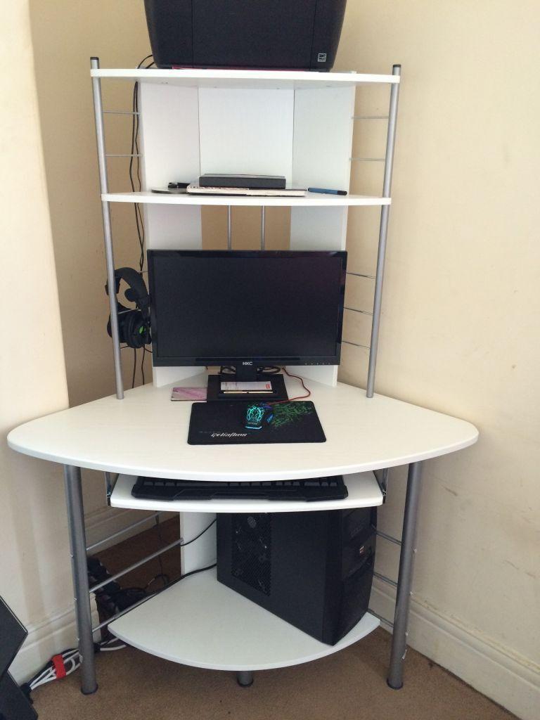 Compact Corner Desk Piranha Compact Corner Desk White In Stanley County Durham