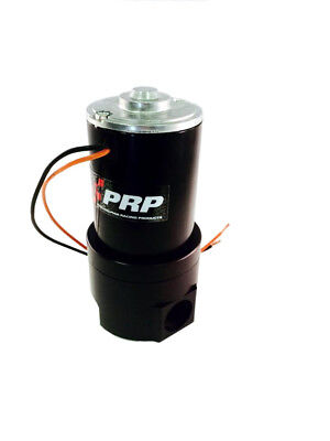 PRP 6655 Remote Mount Inline Electric Water Pump, Free-Flows 25gph, Black Fin,
