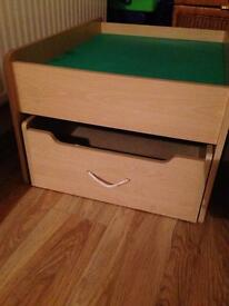 Play Table and Storage Drawer -SOLD