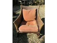 Large antique fireside chair
