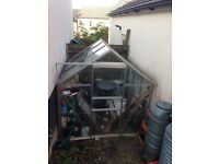 6ft X 6ft Glass Greenhouse £125