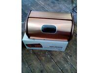 Brand new copper bread bin, sell £7.50 for quick sale