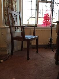 6 Edwardian dining chairs and two carvers
