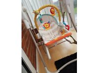 Fisher price 3 in 1 rocker swing seat. Barely used, excellent condition. From smoke & pet free home.