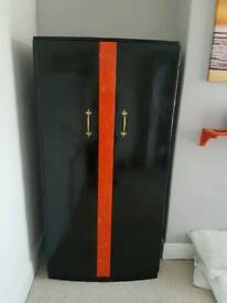 Black & orange wardrobe free delivery
