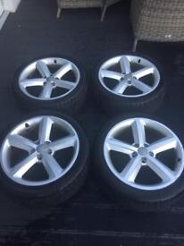 """Audi A6 18"""" Alloy and part worn tires x4"""