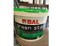 Green star tile adhesive for walls - used