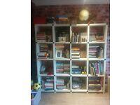 bookshelf white wooden laminated