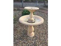 2 tiered sandstone fountain