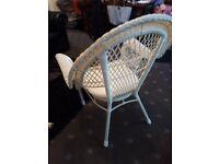 White basket chair