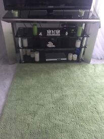 Black and Silver TV unit, Coffee Table, Side Unit and Display Cabinet(SOLD AS A SET). As New.