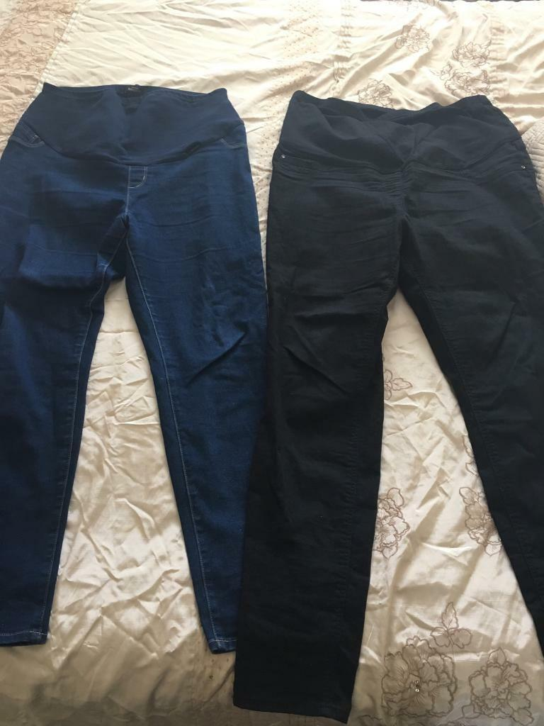 832e09aa81458 Size 16-18 maternity clothing bundle. 2 x maternity jeans from George & 2 x  tops from mothercare